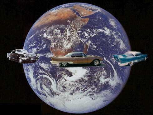 '57 Cadillac Brougham around the Earth. Click to enter